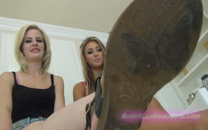 American Mean Girls - Shoe Sole Licking POV Goddess Suvana, Goddess Nikkole