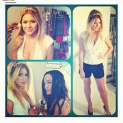 Renee Olstead - at a photoshoot for Imposters web series 10/25/12