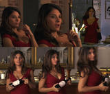 Callie Thorne l Cleavage/sexy dress l White Collar S1E3 l (CollageX1)